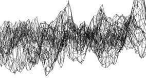 Αφηρημένο απλό γραπτό τρισδιάστατο πλέγμα ή πλέγμα κυματισμού ως πανέμορφο υπόβαθρο Γκρίζο γεωμετρικό δομένος περιβάλλον ή διανυσματική απεικόνιση