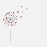 Αφηρημένο αποκόπτω έγγραφο υπόβαθρο λουλουδιών πεταλούδων Διανυσματικό illus απεικόνιση αποθεμάτων