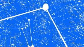 Αφηρημένο απλό μπλε που κυματίζει το τρισδιάστατο πλέγμα ή το πλέγμα ως πανέμορφο υπόβαθρο Μπλε γεωμετρικό δομένος περιβάλλον ή ν ελεύθερη απεικόνιση δικαιώματος