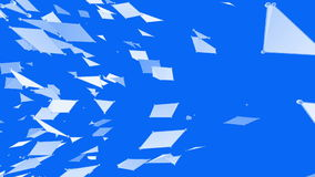 Αφηρημένο απλό μπλε που κυματίζει το τρισδιάστατο πλέγμα ή το πλέγμα ως δημιουργικό υπόβαθρο Μπλε γεωμετρικό δομένος περιβάλλον ή διανυσματική απεικόνιση