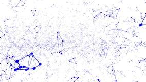 Αφηρημένο απλό μπλε που κυματίζει το τρισδιάστατο πλέγμα ή το πλέγμα ως υπόβαθρο ονείρου Μπλε γεωμετρικό δομένος περιβάλλον ή να  διανυσματική απεικόνιση