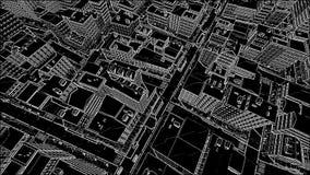Αφηρημένο αρχιτεκτονικό υπόβαθρο πόλεων σκίτσων απεικόνιση αποθεμάτων