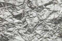 Αφηρημένο ασημένιο ζαρωμένο υπόβαθρο σύστασης εγγράφου Στοκ Εικόνες