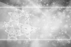 Αφηρημένο ασημένιο υπόβαθρο διακοσμήσεων Χριστουγέννων Στοκ Φωτογραφίες