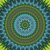 Αφηρημένο ασιατικό fractal υπόβαθρο mandala διανυσματική απεικόνιση