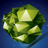 Αφηρημένο ασυμμετρικό διανυσματικό φωτεινό αντικείμενο με το πλέγμα γραμμών Στοκ Εικόνα
