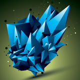 Αφηρημένο ασυμμετρικό διανυσματικό φωτεινό αντικείμενο με το πλέγμα γραμμών Στοκ Εικόνες