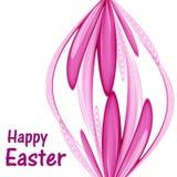 Αφηρημένο αυγό Πάσχας που γίνεται από τα ρόδινα αφηρημένα λουλούδια διανυσματική απεικόνιση