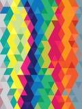Αφηρημένο λαϊκό υπόβαθρο χρώματος τέχνης στη σύσταση τριγώνων Στοκ Φωτογραφία