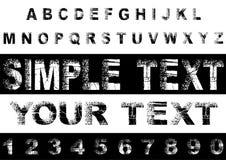 Αφηρημένο αλφάβητο Grunge. Στοκ Εικόνες