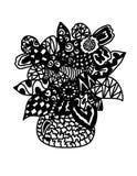 Αφηρημένο βάζο με το λουλούδι στοκ εικόνα με δικαίωμα ελεύθερης χρήσης