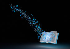 αφηρημένο βιβλίο μαγικό Στοκ εικόνα με δικαίωμα ελεύθερης χρήσης