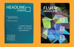 Αφηρημένο βιβλιάριο ιπτάμενων φυλλάδιων περιοδικών σχεδίου πολυγώνων προτύπων Στοκ Φωτογραφία