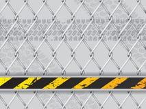 Αφηρημένο βιομηχανικό υπόβαθρο με το συνδεμένο με καλώδιο φράκτη ελεύθερη απεικόνιση δικαιώματος