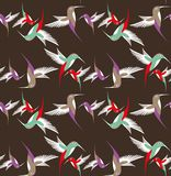 Αφηρημένο βουίζοντας πουλί κατά την πτήση Στοκ Εικόνα