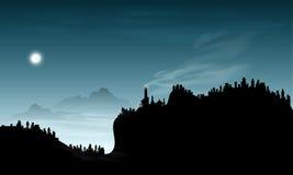 Αφηρημένο βουνό καπνού ελεύθερη απεικόνιση δικαιώματος
