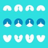 Αφηρημένο γάλα, απελευθερώσεις νερού, διανυσματικά temp λογότυπων λαιμού Στοκ φωτογραφία με δικαίωμα ελεύθερης χρήσης