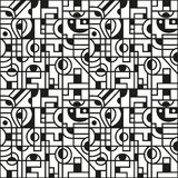 Αφηρημένο γεωμετρικό άνευ ραφής σχέδιο Στοκ εικόνα με δικαίωμα ελεύθερης χρήσης