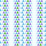 Αφηρημένο γεωμετρικό άνευ ραφής υπόβαθρο με τα τρίγωνα Στοκ Φωτογραφίες