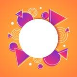 Αφηρημένο γεωμετρικό έμβλημα αφισών υποβάθρου ελεύθερη απεικόνιση δικαιώματος