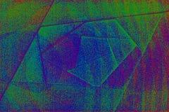 Αφηρημένο γεωμετρικό βαλμένο σε στρώσεις υπόβαθρο με το ζωηρόχρωμο τρίξιμο Στοκ Φωτογραφία