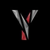 Αφηρημένο γεωμετρικό γράμμα Υ logotype Στοκ Εικόνες