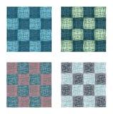 Αφηρημένο γεωμετρικό διανυσματικό σύνολο σχεδίων τετραγώνων άνευ ραφής Στοκ Εικόνες