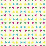 Αφηρημένο γεωμετρικό ζωηρόχρωμο υπόβαθρο σχεδίων τριγώνων Στοκ Εικόνα
