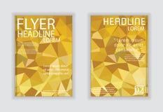 Αφηρημένο γεωμετρικό διανυσματικό πρότυπο σχεδιαγράμματος σχεδίου ιπτάμενων φυλλάδιων Στοκ Εικόνες