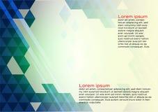 Αφηρημένο γεωμετρικό μπλε υπόβαθρο χρώματος με τη διαστημική, διανυσματική απεικόνιση αντιγράφων για το έμβλημα της επιχείρησής σ απεικόνιση αποθεμάτων