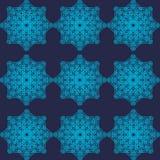 Αφηρημένο γεωμετρικό μπλε σχέδιο Στοκ Εικόνα