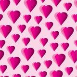Αφηρημένο γεωμετρικό ρόδινο σχέδιο καρδιών Στοκ Εικόνες
