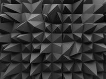 Αφηρημένο γεωμετρικό σκοτεινό τρισδιάστατο υπόβαθρο Στοκ Εικόνες