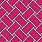 Αφηρημένο γεωμετρικό σχέδιο, ζωηρόχρωμο ρόδινο άνευ ραφής υπόβαθρο Στοκ Εικόνες