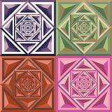 Αφηρημένο γεωμετρικό σχέδιο χρώματος διανυσματική απεικόνιση