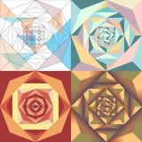 Αφηρημένο γεωμετρικό σύνολο λουλουδιών απεικόνιση αποθεμάτων