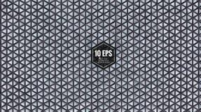 Αφηρημένο γεωμετρικό τριγωνικό σχέδιο BG στο γκρίζο χρώμα Στοκ Εικόνα