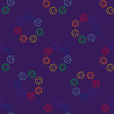 Αφηρημένο γεωμετρικό υπόβαθρο, επτά ανθρώπινα chakras, seaml Στοκ φωτογραφίες με δικαίωμα ελεύθερης χρήσης