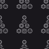 Αφηρημένο γεωμετρικό υπόβαθρο, επτά ανθρώπινα chakras, seaml Στοκ φωτογραφία με δικαίωμα ελεύθερης χρήσης