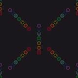 Αφηρημένο γεωμετρικό υπόβαθρο, επτά ανθρώπινα chakras, seaml Στοκ Εικόνα