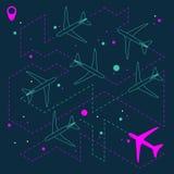 Αφηρημένο γεωμετρικό υπόβαθρο με τα αεροπλάνα απεικόνιση αποθεμάτων