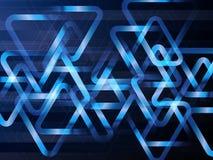 Αφηρημένο γεωμετρικό υπόβαθρο με τα τρίγωνα Διανυσματική ψηφιακή έννοια τεχνολογίας Στοκ Φωτογραφίες