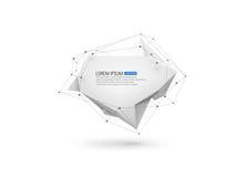 Αφηρημένο γεωμετρικό υπόβαθρο με τα poligons Στοκ φωτογραφία με δικαίωμα ελεύθερης χρήσης