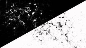 Αφηρημένο γεωμετρικό υπόβαθρο με την κίνηση των γραμμών, των σημείων και των τριγώνων Αφηρημένη τεχνολογία φαντασίας πλεγμάτων Ζω απόθεμα βίντεο