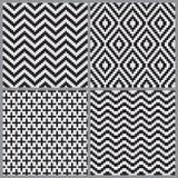 Αφηρημένο γεωμετρικό υπόβαθρο σχεδίων επικεράμωσης άνευ ραφής Στοκ Φωτογραφία