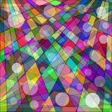 Αφηρημένο γεωμετρικό υπόβαθρο της χρωματισμένης ταπετσαρίας Στοκ Εικόνα