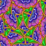 Αφηρημένο γεωμετρικό υπόβαθρο των σχεδίων Doodle Στοκ Εικόνα