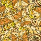 Αφηρημένο γεωμετρικό υπόβαθρο των σχεδίων Doodle Στοκ Φωτογραφία