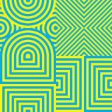 Αφηρημένο γεωμετρικό υπόβαθρο λωρίδων Στοκ Φωτογραφίες