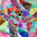 Αφηρημένο γεωμετρικό υπόβαθρο watercolor Στοκ φωτογραφία με δικαίωμα ελεύθερης χρήσης